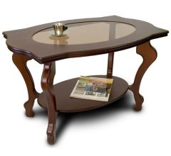 Журнальный стол Берже-1С темно-коричневый